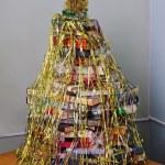 Christmas tree made of books — Stock Photo #64923893