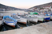 Boats at pier in Balaclava — Stock Photo