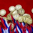 Medals with tricolor ribbons — Stock Photo #72805363