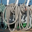 Marine ropes  on the deck — Stock Photo #73464031