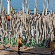 Marine ropes  on the deck — Stock Photo #73464005