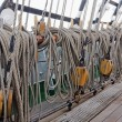 Marine ropes  on the deck — Stock Photo #73464013