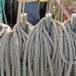 Marine ropes  on the deck — Stock Photo #73464037