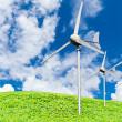 Eco power, wind turbines generating electricity — Stock Photo #65049099