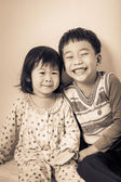 Little asian (thai) children happily — Stock Photo