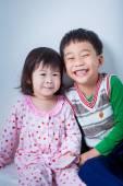 Little asian (thai) children happily — Stock Photo