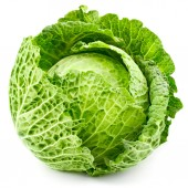 Cabbage isolated — Stock Photo