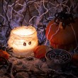 Candles for halloween holiday — Stock Photo #58206267