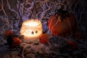Candles for halloween holiday — 图库照片