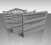 Fence concrete — Stock Photo