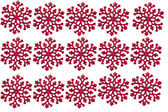 Red christmas snowflake on white background — Stockfoto