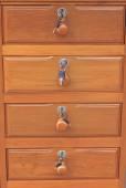 Wood drawer by teak wood vintage style  — ストック写真