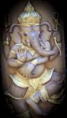 Wood carving of Ganesha(universal god)  — 图库照片