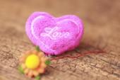 Heart on wood - Stock Image — Stock Photo
