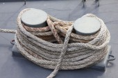 Boat rope - Stock Image — Stock Photo