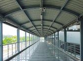 Airport corridor- Stock Image — Стоковое фото