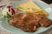 Grilled rib steak - Stock Image — Stock Photo