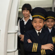Capitan and cabin crew — Stock Photo #52172199