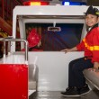 Little firefighters in the fire truck — Stock Photo #52172245
