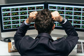 Stressed trader — Stock Photo