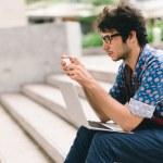 Student  using smartphone — Stock Photo #52181771