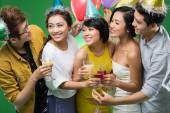Vietnamese people clinking at the party — Stock Photo
