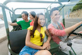 Traveling by off-road vehicle — Stock Photo