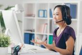 Technic support operator — Stock Photo