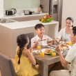 Asian family dining together — Stock Photo #54309989