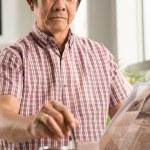 Vietnamese man with fresh coffee — Stock Photo #54312571