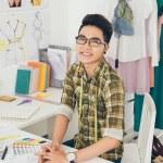Happy Asian tailor — Stock Photo #54314693