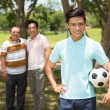 Teenager with soccer ball — Stock Photo #54315901