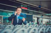 Businessman in airport — Stock Photo