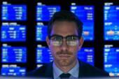 Serious financial broker — Stock Photo