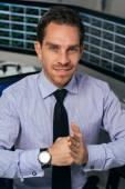 Business broker showing gesture — Stock Photo