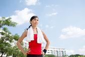 Vietnamese jogger — Stock Photo