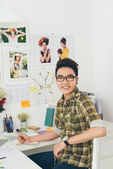 Vietnamese fashion designer — Stock Photo