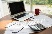 Workplace of accountant — Stock Photo