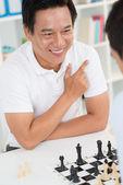 Winning chess play — Stock Photo