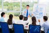 Presenting business strategy — Stock Photo