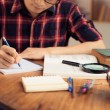 College student studying at home — Stock Photo #54322429