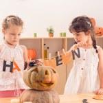 Creating Halloween decorations — Stock Photo #54323407