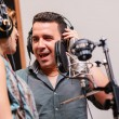 Duet singing in recording studio — Stock Photo #54324979