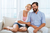Smiling married couple — Stock Photo