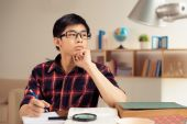 Pensive college student — Stock Photo