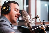 Recording a song — Stock Photo