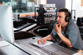 Working at mixing panel — Stock Photo