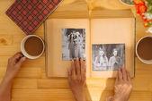 Pictures in the photo album — Stock Photo