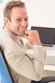 Smiling businessman — Stock Photo