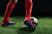 Dribbling the ball — Stock Photo